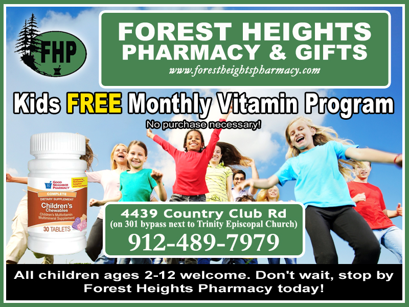 Free Childrens Vitamins | Forest Heights Pharmacy and Gifts | Statesboro GA